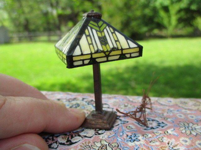 Dollhouse Miniatures Barbara Kummerow Frank Lloyd Wright Lamp 12 Volt Lamp Dollhouse Miniatures Doll House