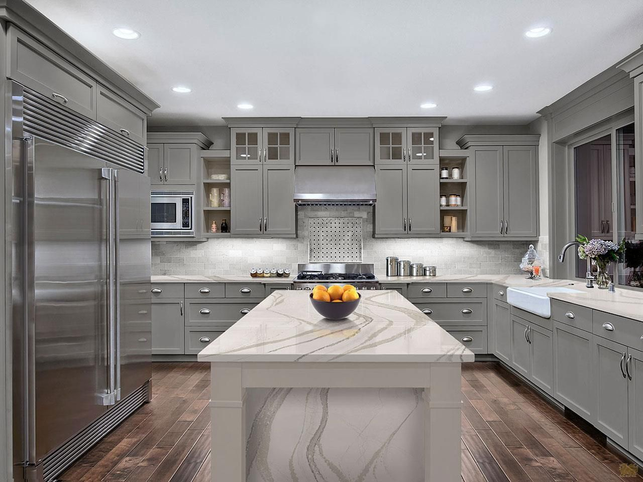 Transitional Kitchen Cambrias Must See Marble Collection Transitional Kitchen