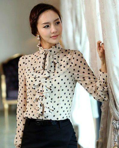 Identificación blusa mujeres producto en las del Blusas fantasía 712249735 último Mujer diseño El chifonpunto de camisacamisa elegante CF0ZOqxwt