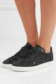 huge selection of 91403 4e4ad Adidas Originals Gazelle cutout suede sneakers