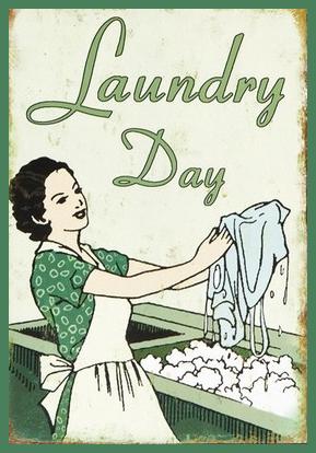 Va H Wash Day Decoration For Laundry Room Vintage Laundry