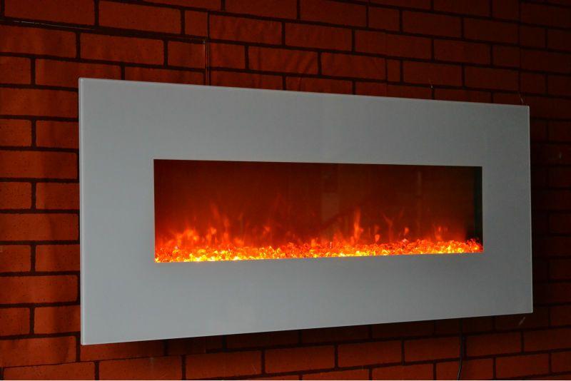 110v 120v 220v 240v White 50 Wall Mounted Electric Fire Place