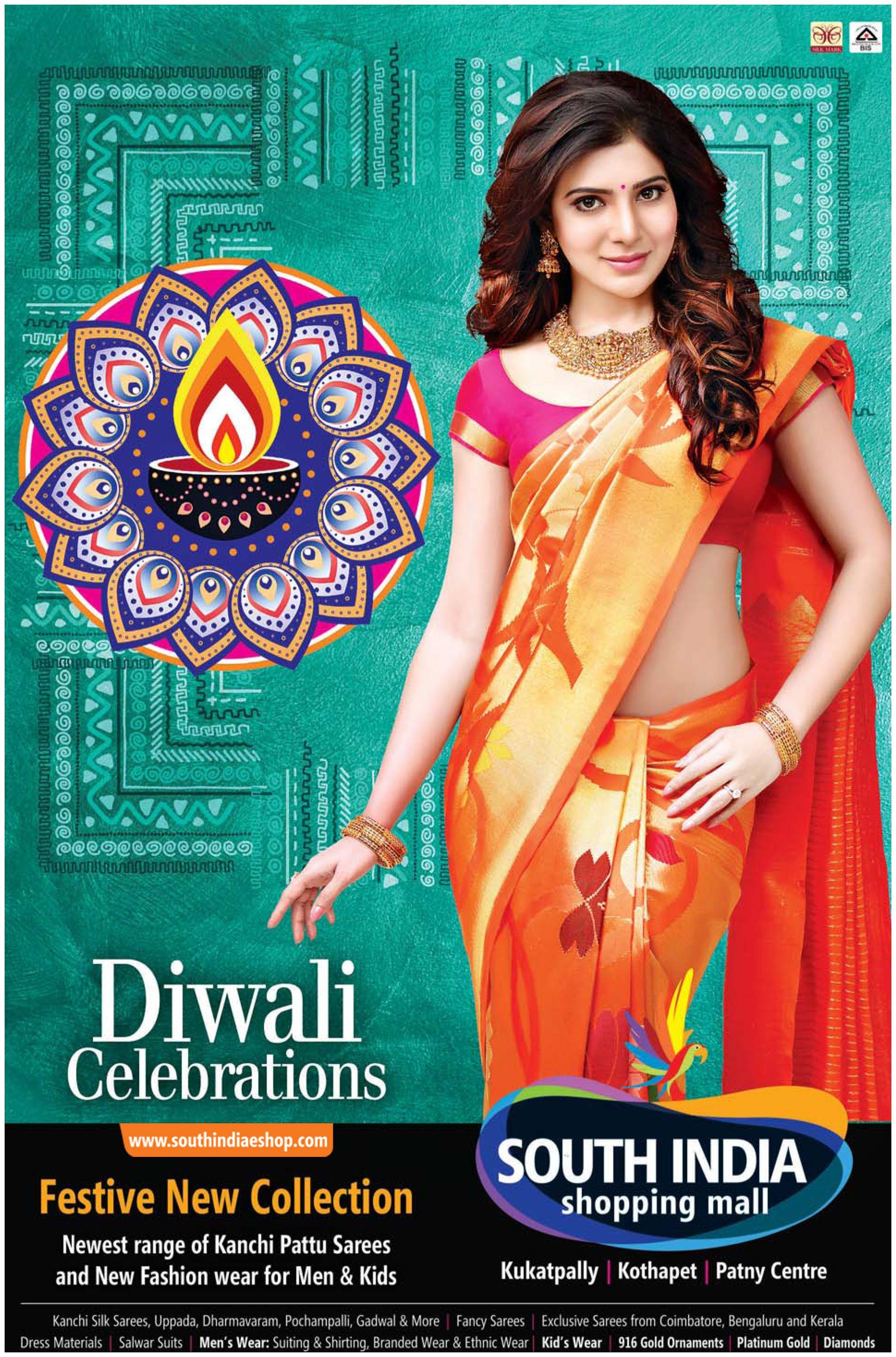 Diwali Celebrations Happening South India Shopping Mall