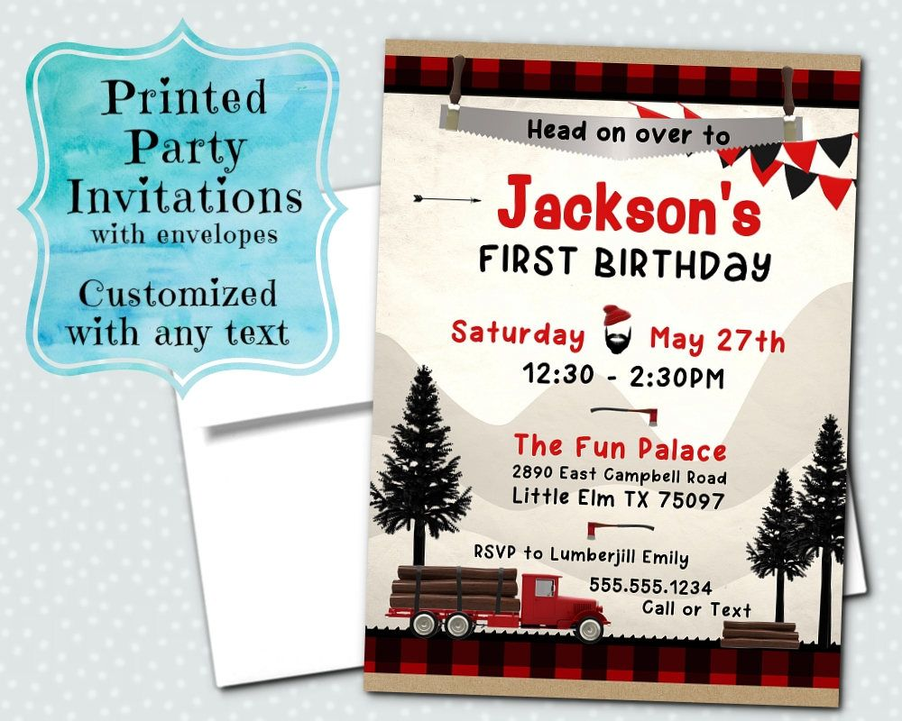 Printed Party Invitations, Invite with Envelope, Birthday, Baby ...