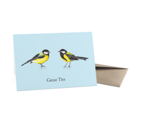 Great Tits Greeting Card By Mark Callaby http://ohhdeer.com/product/great-tits-greeting-card