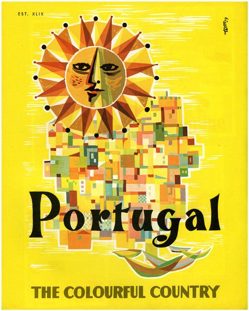 Portugal The Colourful Country Illustration Prints De 2019