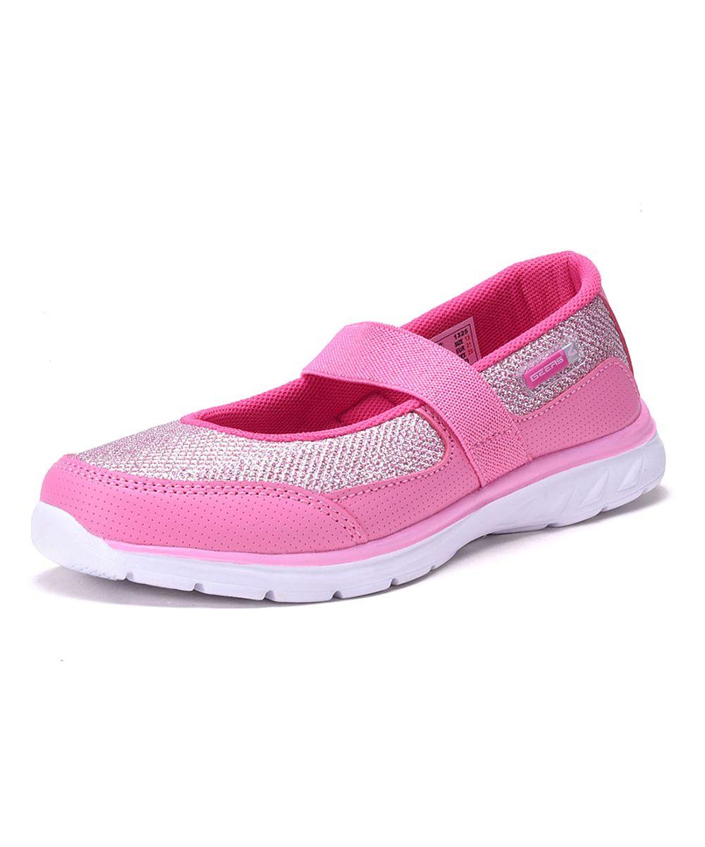 Pink & Silver Slip-On Sneaker