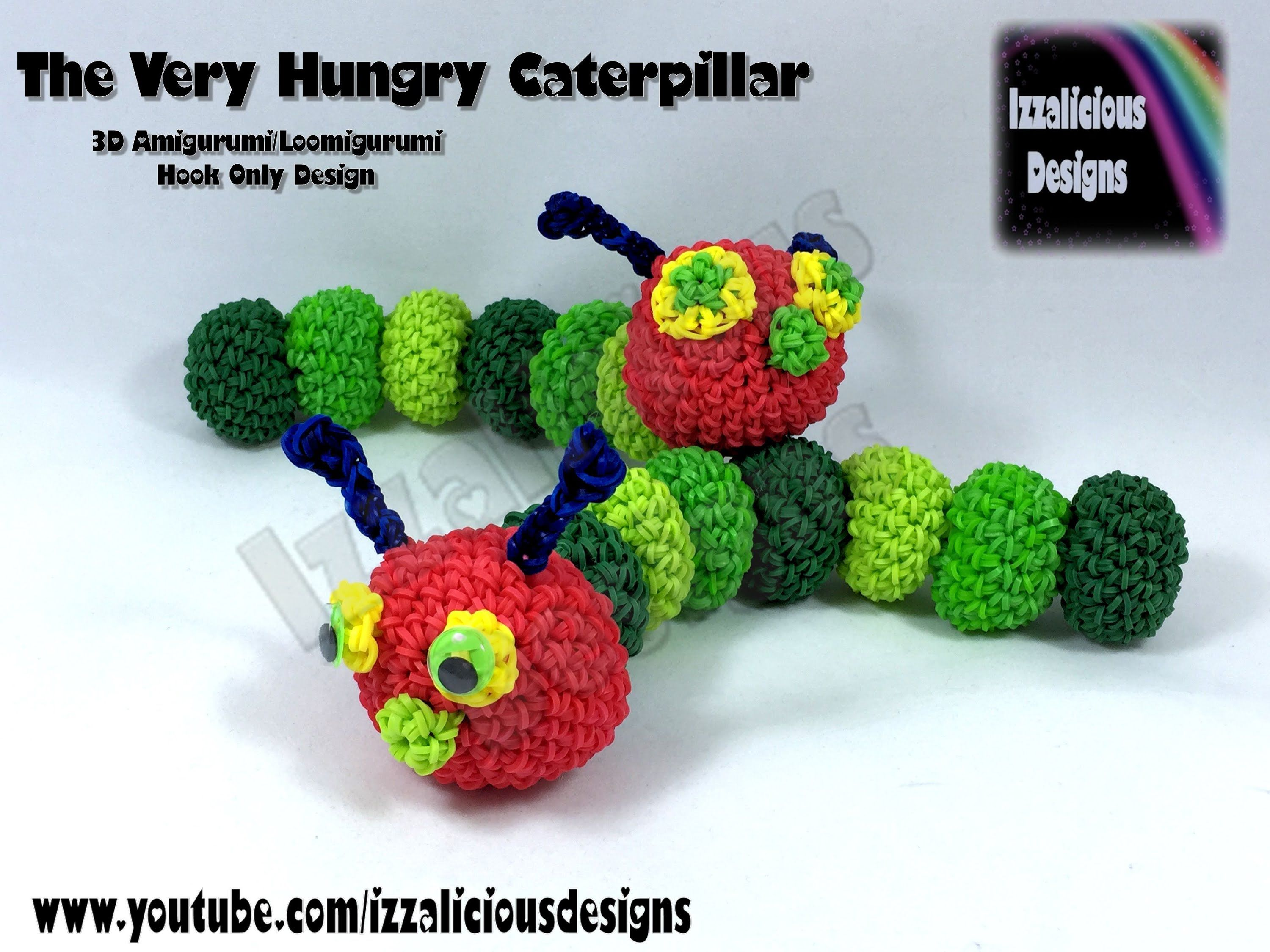 Amigurumi Loom Patterns : Rainbow loom 3d amigurumi loomigurumi very hungry caterpillar
