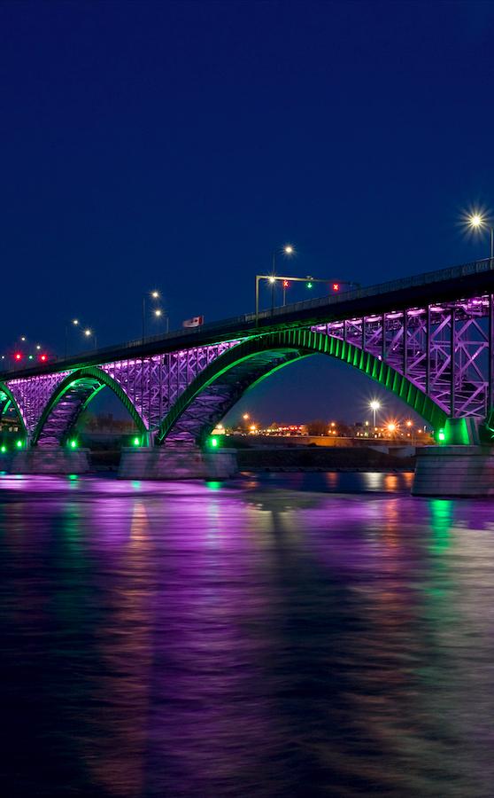 Peace Bridge Spanning The Niagara River Between Buffalo New York