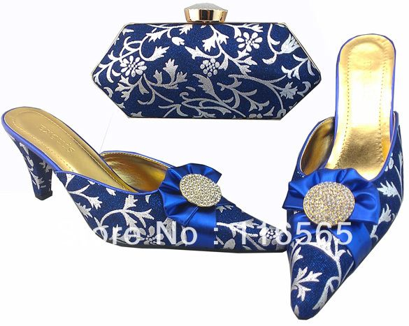Italian Shoes With Matching Bag High Quality For Occasion Ltaly Shoes And  Bag For Evening Free Shipping 1308-16 blue US  73.00 82fd72af2475