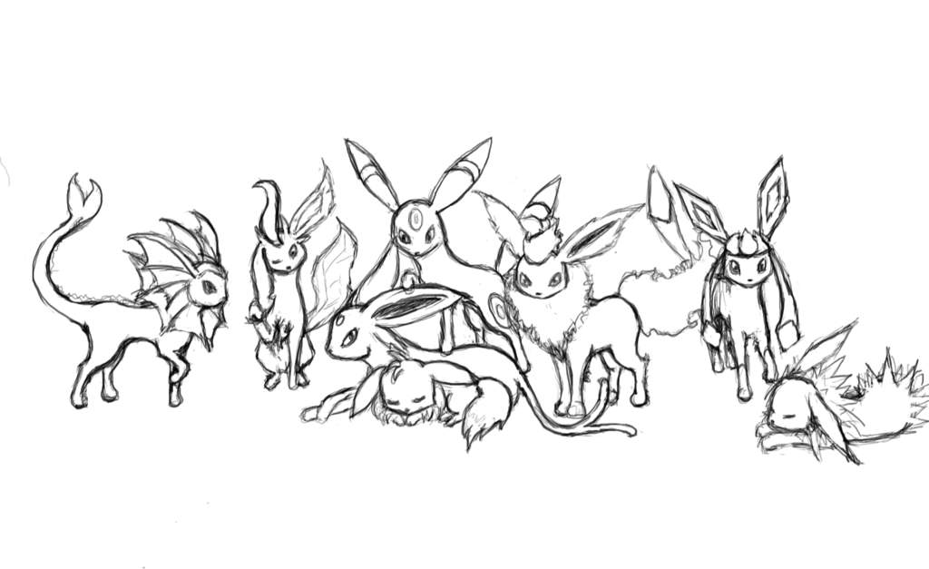 Pokemon Coloring Pages Eevee Evolutions High Quality Coloring