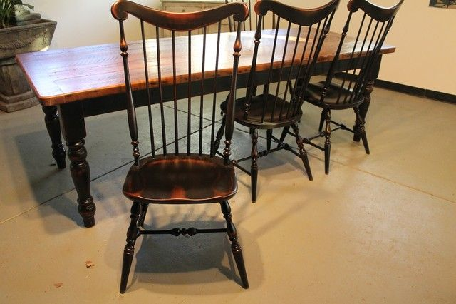Remarkable Brown Wooden Clic Farmhouse Dining Chairs Called The Lightly Distressed Amelia Also