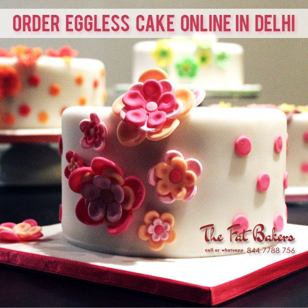 Order Eggless Cake Online in Delhi From the Fat Bakers Best Price