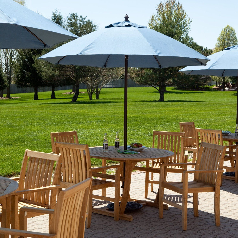 219 99 cafe umbrellas for your backyard 7 5 ft sunbrella canopy