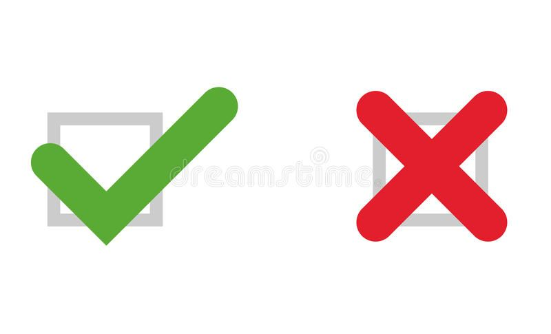 Tick And Cross Icons Vector Illustration Of Tick And Cross Fully Editable Icon Spon Icons Vector Tick Cros Vector Illustration Illustration Vector