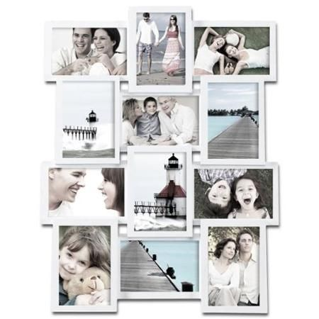 Adeco 12 Photo Collage White Wood Picture Frame Walmart Com Picture Collage Collage Picture Frames 12 Photo Collage
