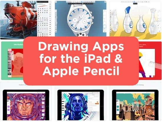 Drawing Apps for the iPad & Apple Pencil Ipad drawings