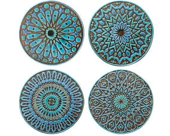 Garden Decor Ceramic Tiles Outdoor Wall Art Yard Art Etsy In 2021 Ceramic Wall Art Ceramic Wall Decor Pottery