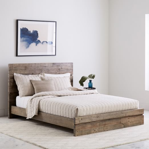 Emmerson® Reclaimed Wood Bed - Natural | Wood beds, Reclaimed ...