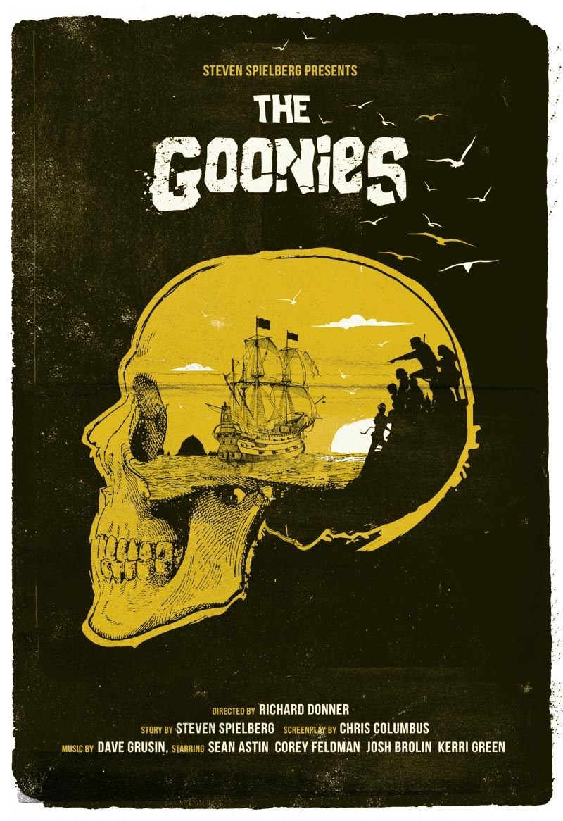 Alternative The Goonies poster film print skull never say die movie ...