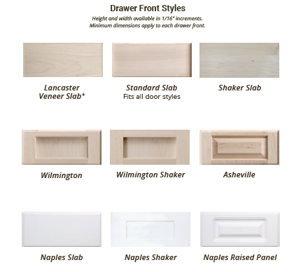Custom Cabinet Drawer Front Styles Replacement Cabinet Drawer