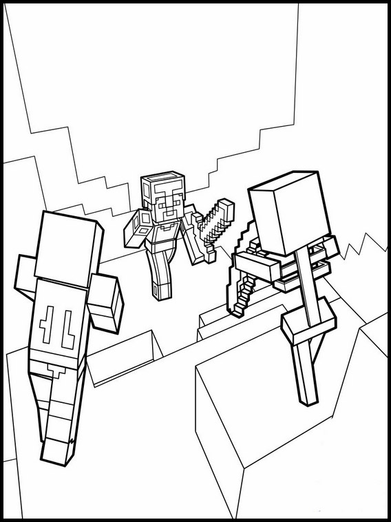 Minecraft Dungeons Coloring Pages Concept