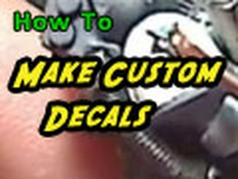 How to make custom decals youtube