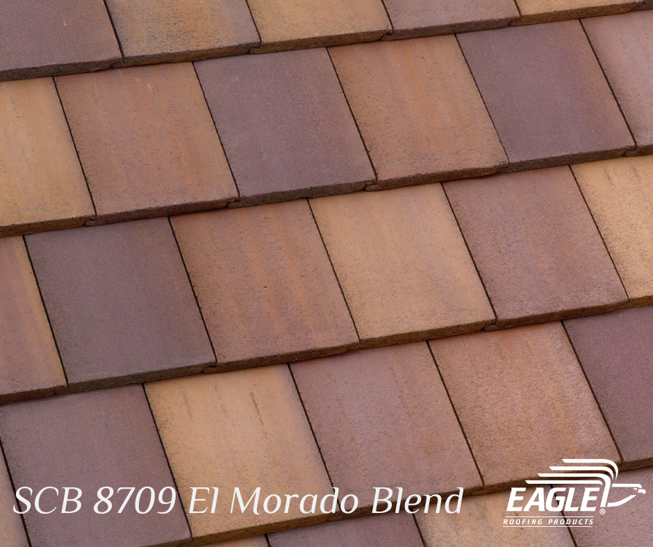 Rejuvenate Your Roofscape With Our Color Of The Month Scb 8709 El Morado Blend In Our Bel Air P In 2020 Concrete Roof Tiles English Country Style Country Style Homes
