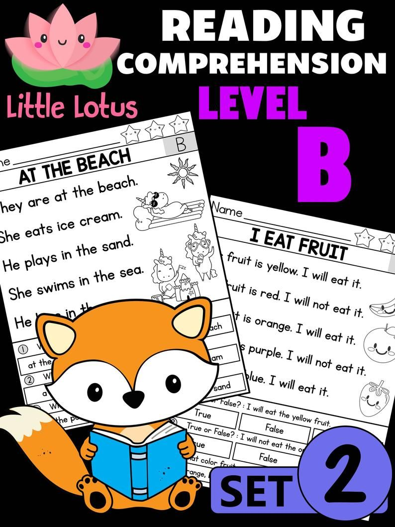 Kindergarten First Grade Little Lotus Reading Reading Comprehension Kids Fun Learning Reading Comprehension Passages [ 1059 x 794 Pixel ]