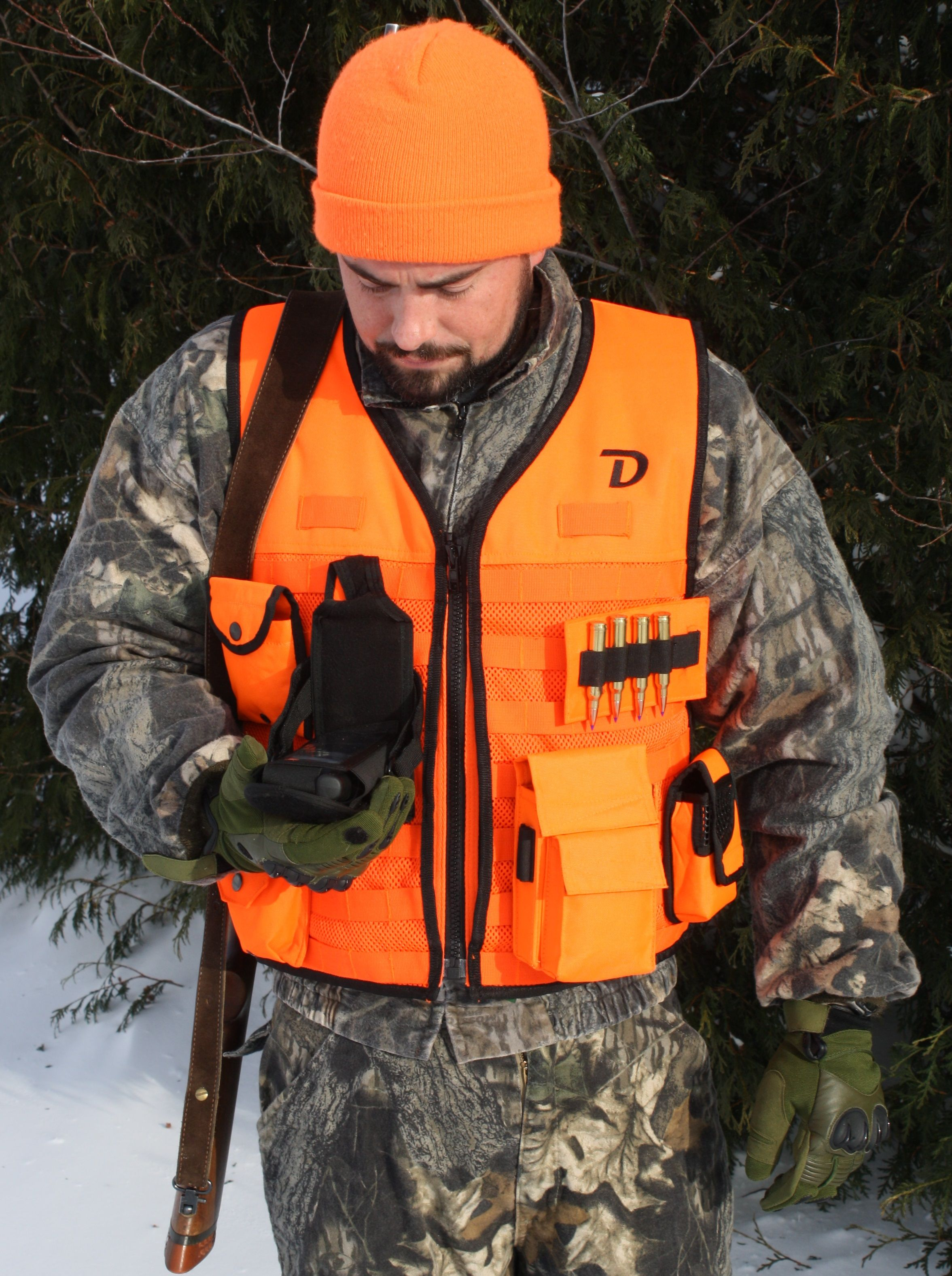 58e14f76e8927 Blaze Orange MOLLE Vest www.dutyapparel.com | Hunting Apparel ...
