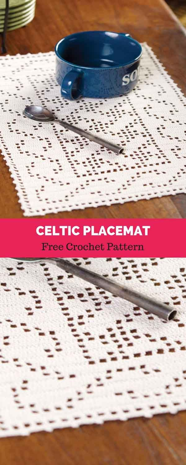 Celtic Placemat [ FREE CROCHET PATTERN #filetcrochet
