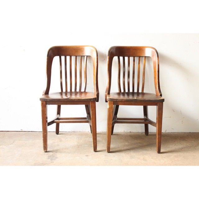 Vintage Library Chairs