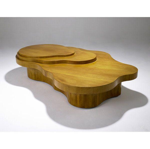 t.h. robsjohn gibbings for widdicomb mesa freeform coffee table