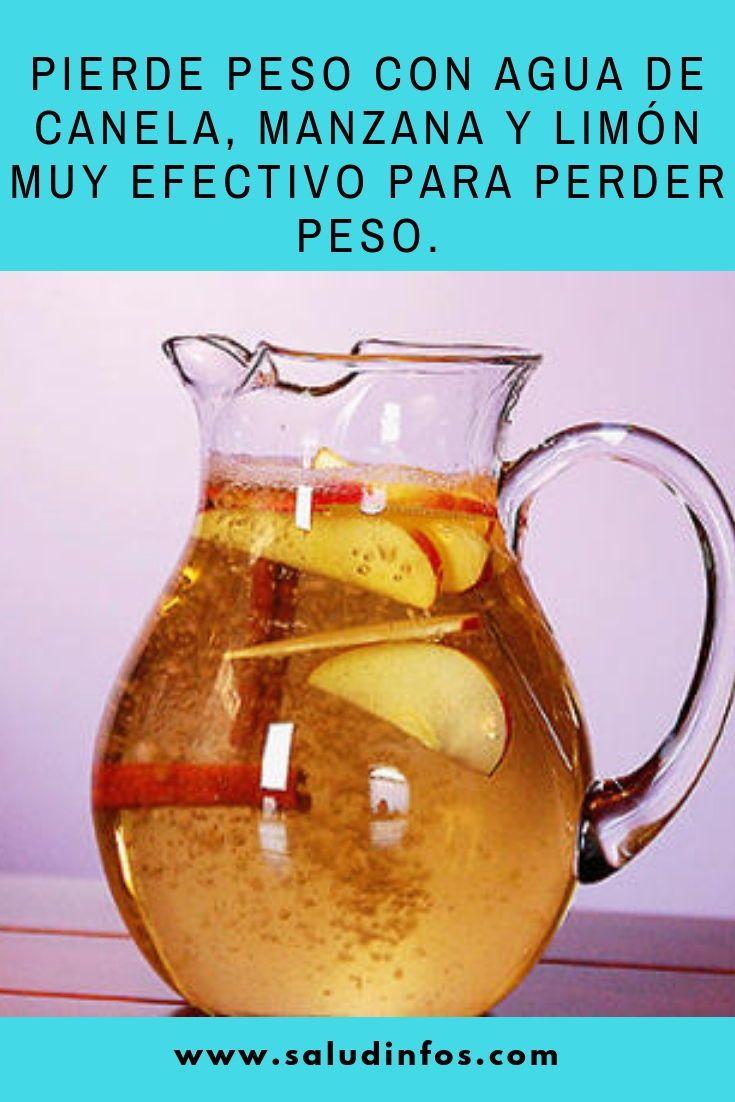 Pierde Peso Con Agua De Canela Manzana Y Limón Muy Efectivo Para Perder Peso Pierde Peso Efectivo Healthy Drinks Workout Food Detox Drinks