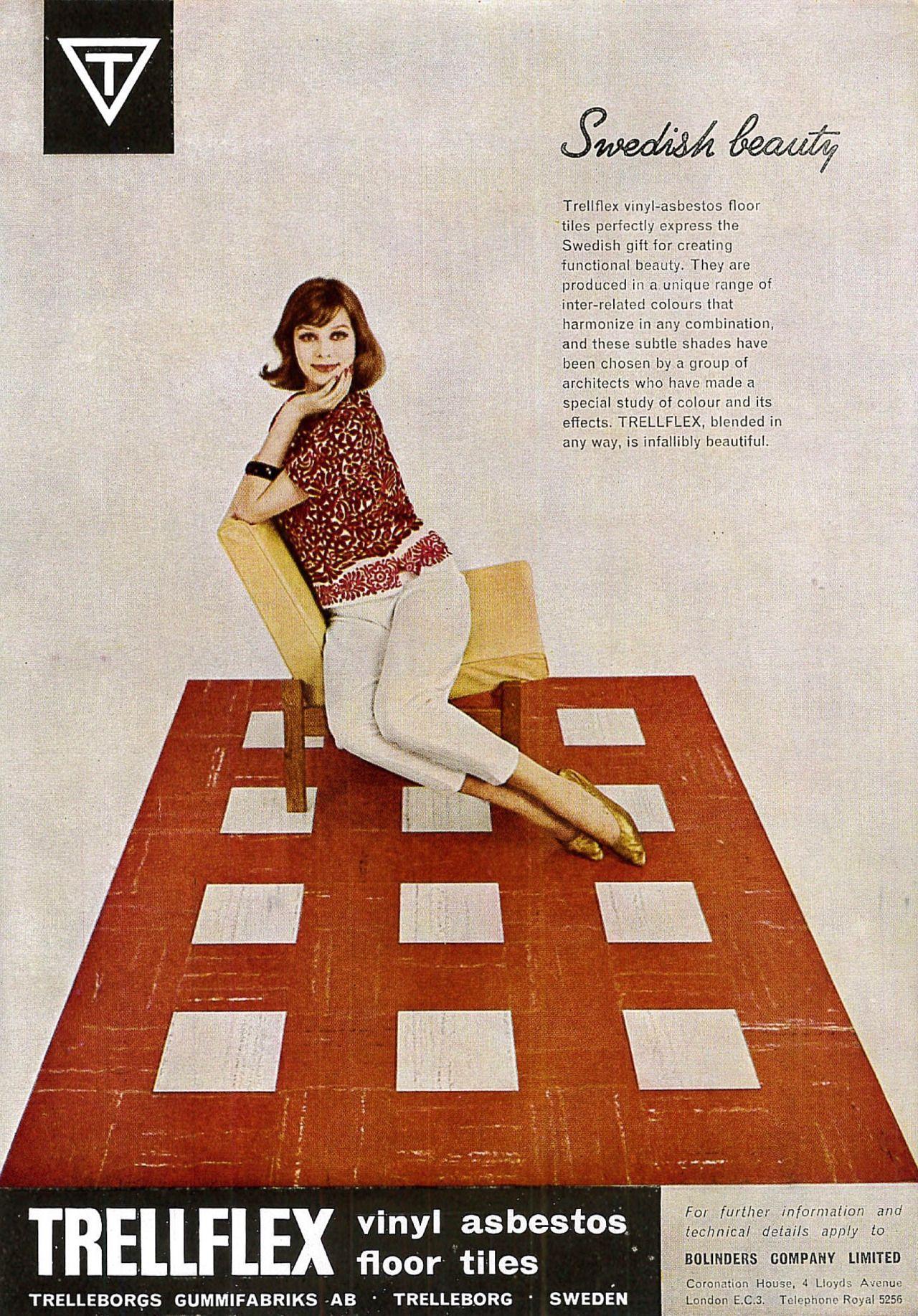 Bluecote Photo Asbestos Retro Advertising Vintage Ads