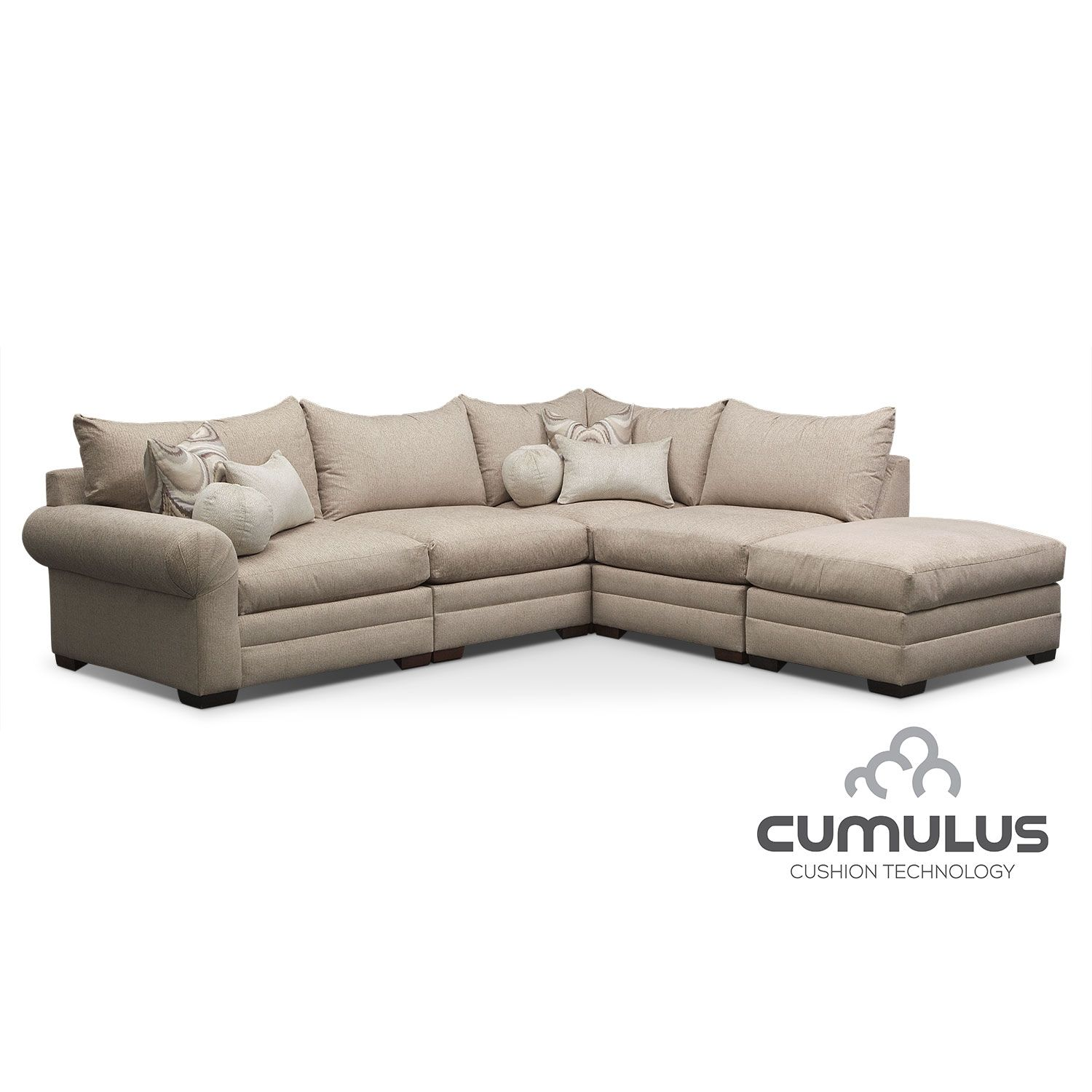 Wilshire 5 Pc Sectional Value City Furniture