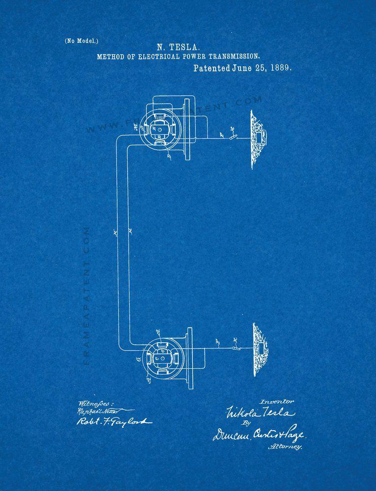 Google patent blueprint nicola tesla pinterest tesla method of electrical power trans patent print art poster blueprint malvernweather Images