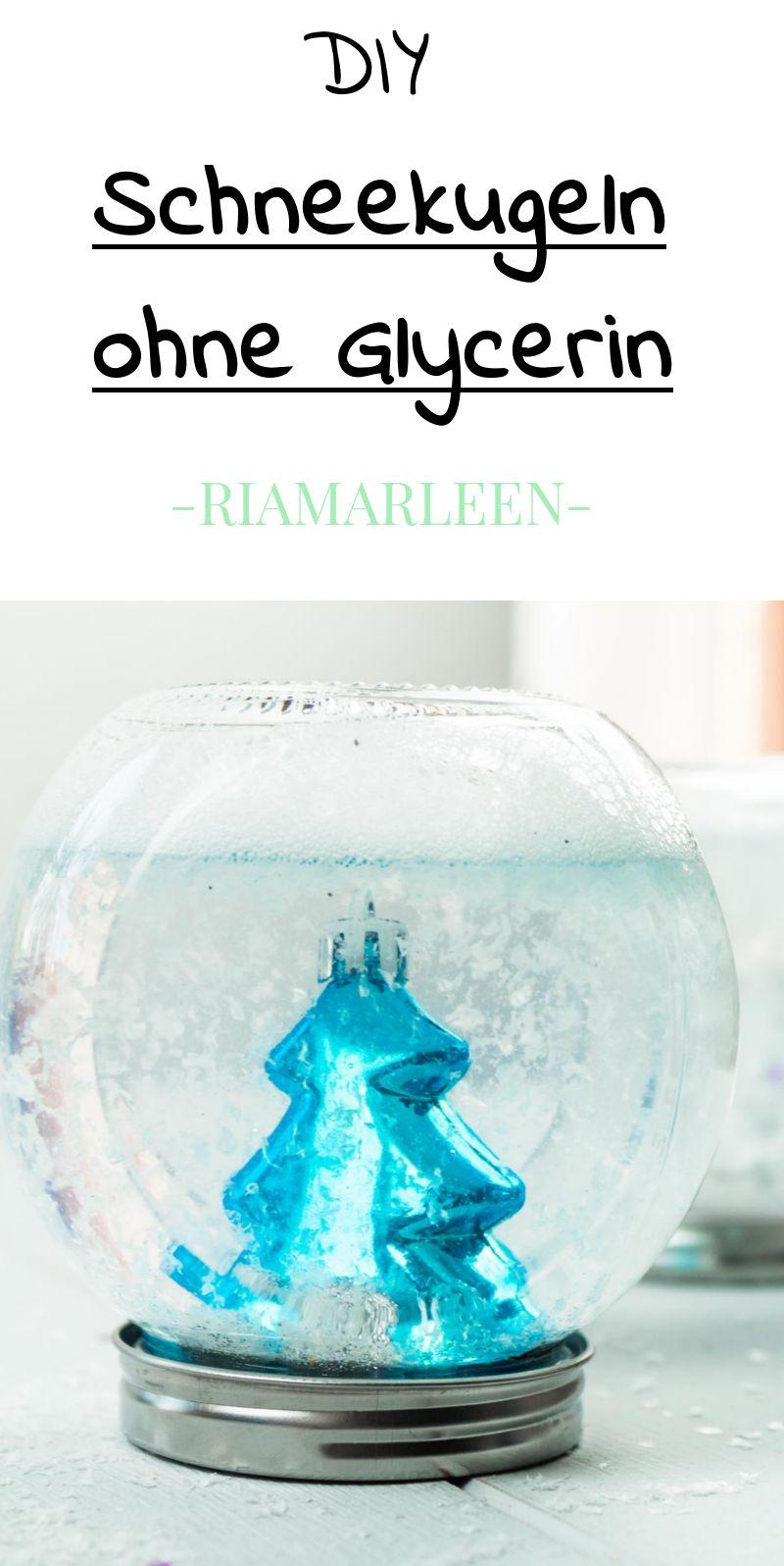 DIY Schneekugeln ohne Glycerin basteln - günstige Geschenkidee | DIY ...