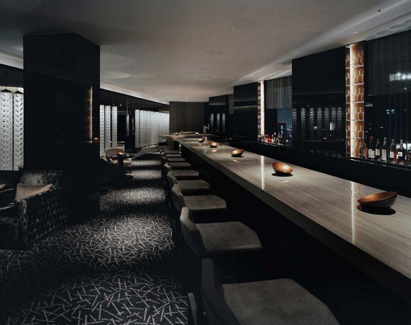 Dark masculine lounge interior panorama hotels one in