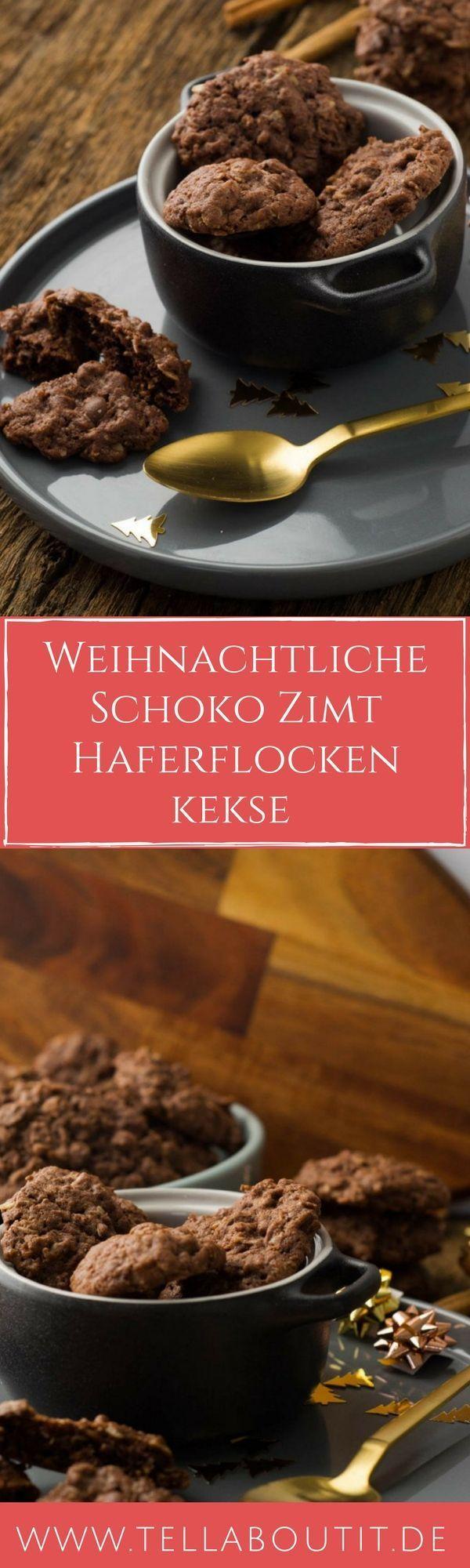 schoko haferflockenkekse mit zimt rezept kuchen pinterest. Black Bedroom Furniture Sets. Home Design Ideas