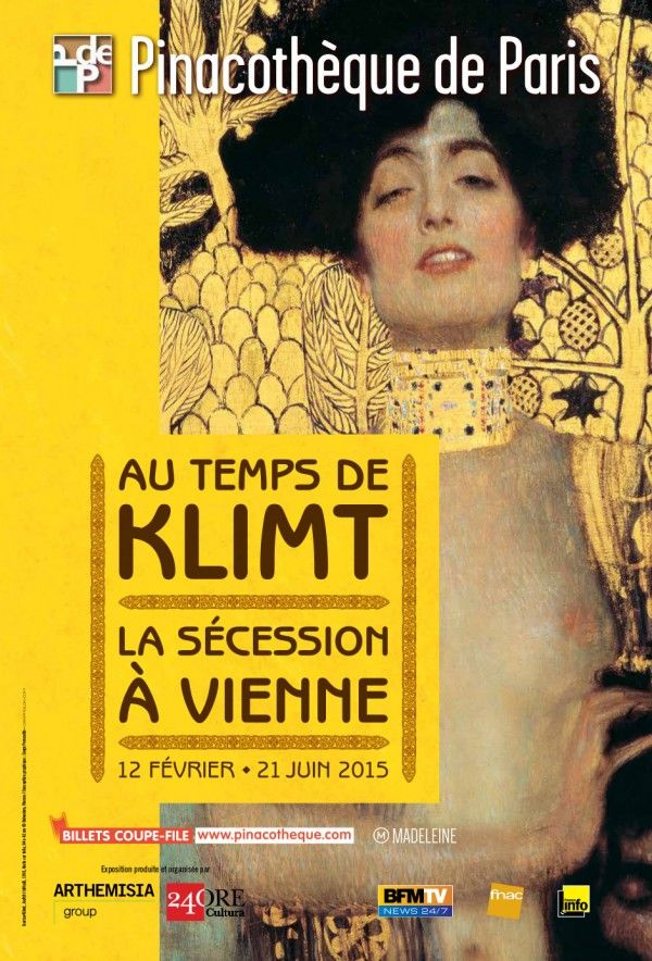 Au temps de Klimt, la Sécession à Vienne à la Pinacothèque : Affiche. © Belvédère, Vienne © Conception graphique: Serge Perraudin - Grapholon.com