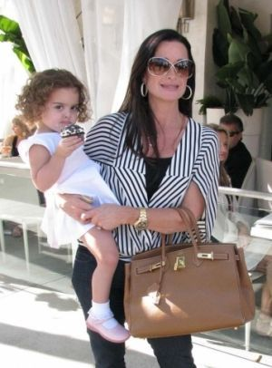 celebrities birkin bags Kyle Richards and daughter Portia Frockage  Hermes  Birkin bag 2722c59f1d6a1