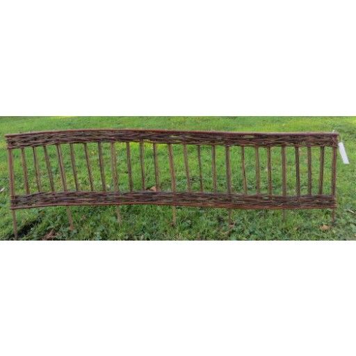 Master Garden Products Woven Willow Edging With Vertical Cross Sections  Pattern, 16 By