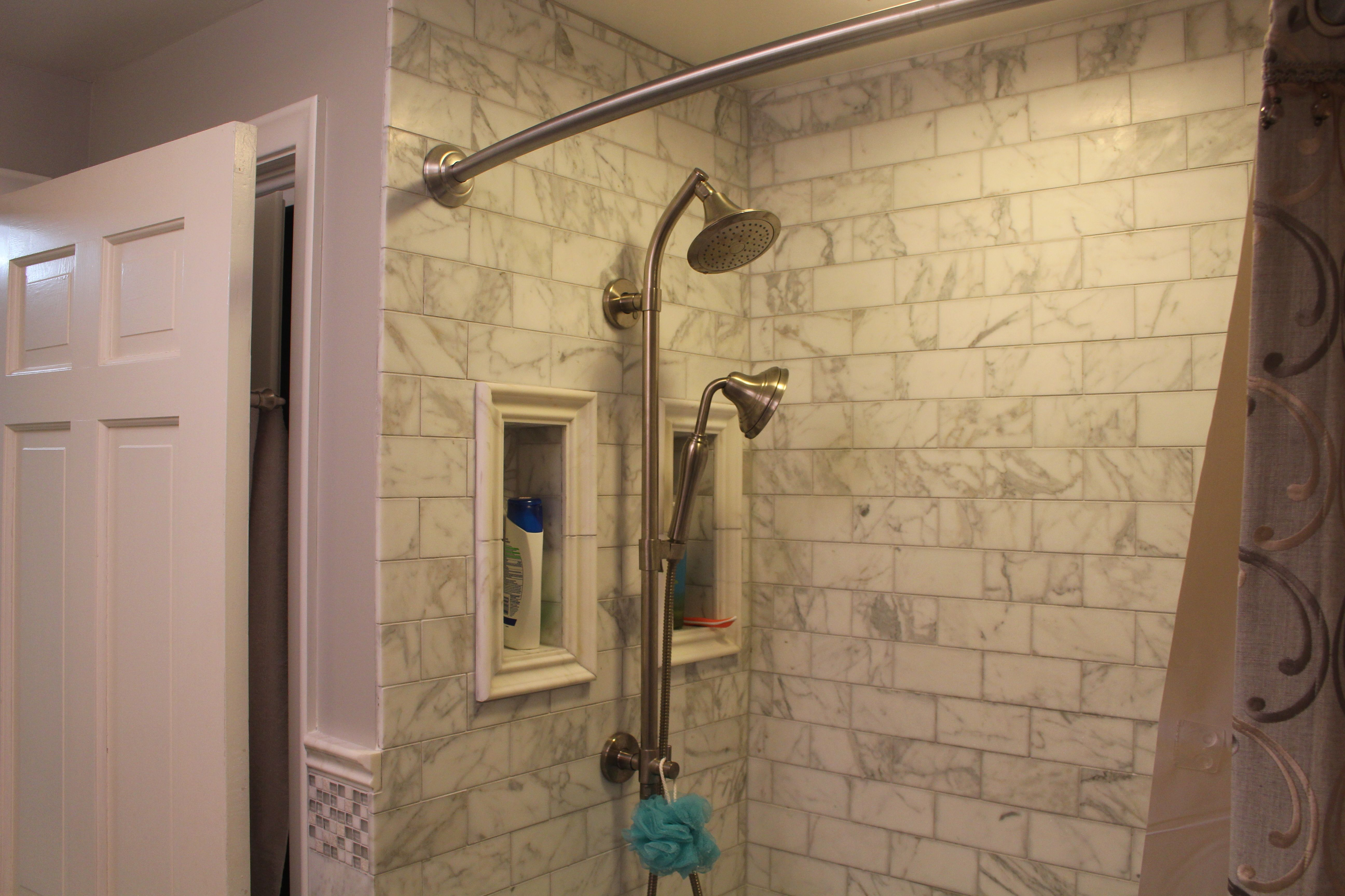 Shower Niches Placed Adjacent To The Shower Heads Tall And Narrow