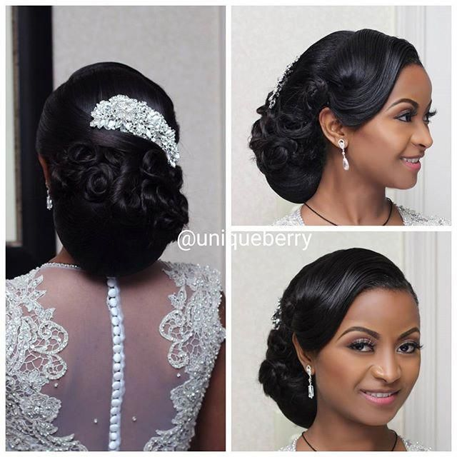 Pin By Cassandra V On Black Wedding Hairstyles In 2020 Bride Hairstyles Updo Hair Styles Dance Hairstyles