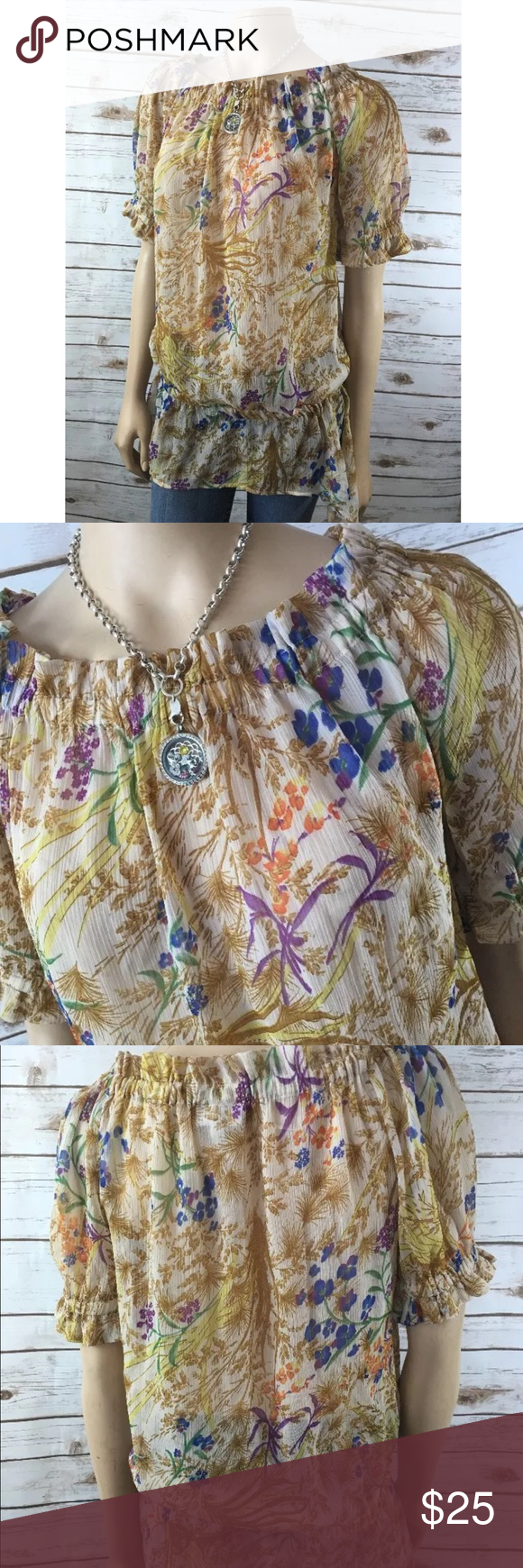 """A Pea in the Pod Maternity Scoop Neck Sheer Tunic Tag size - S Bust Measured Across - 22"""" Length from Shoulder to Hem - 30"""" Beautiful! Great used condition!  Bundle this with another item and get 30% off!! A Pea in the Pod Tops Blouses"""