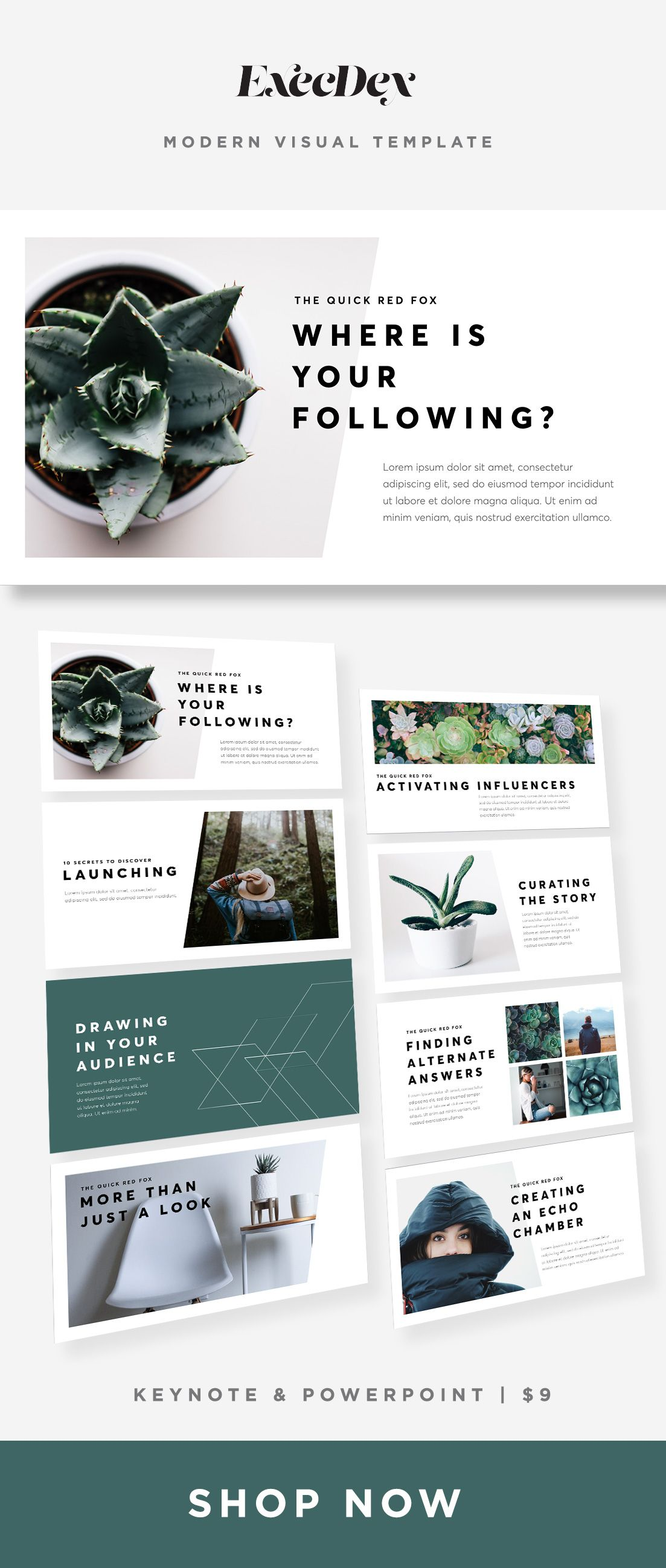 Modern Template Design Keynote Powerpoint Postcard Design Magazine Layout Design Template Design