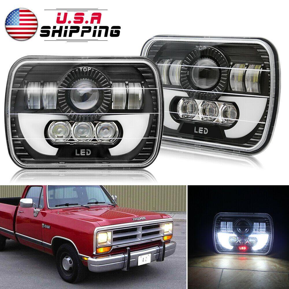 Ebay Sponsored 5x7 7x6 Led Headlight Sealed Hi Lo Beam Upgrade For Dodge D150 D250 D350 Ram 50 Led Headlights Beams Headlights