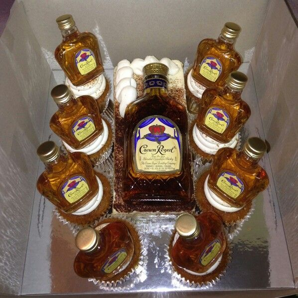 Crown Royal CakeCupcakes made for my Husband 40th Birthday Created