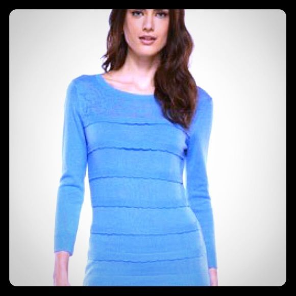 FINAL PRICE Elle sweater Girly blue sweater with lace like detail ...